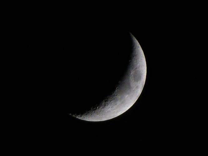 La Lune du 17 décembre 2012 vers 19h50
