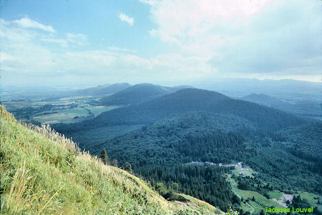 La Chaîne des Puys Sud vue du Puy de Dôme