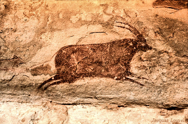 Tassili n'Ajjer : Jabbaren, scène de chasse à l'antilope - 3